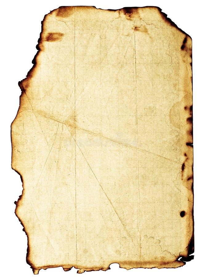 Grunge brannte Papier stockbild