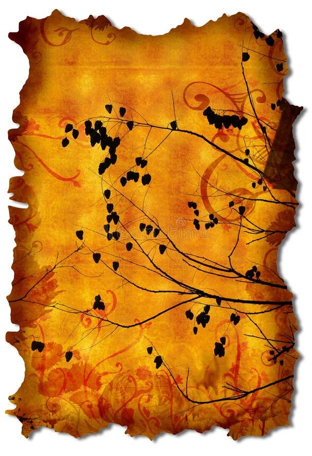 Grunge breitet sich Manuskript aus stock abbildung