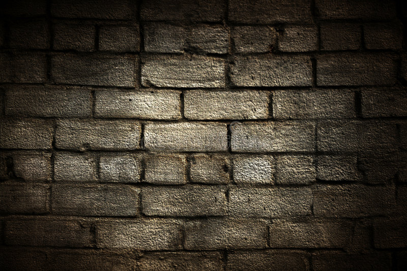 Grunge brick wall with border. Close up royalty free stock photo