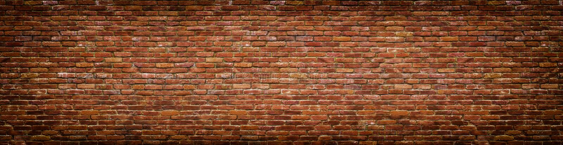 Grunge brick wall, old brickwork panoramic view royalty free stock photos