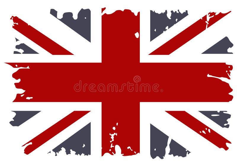 Grunge britannico della bandierina. illustrazione vettoriale