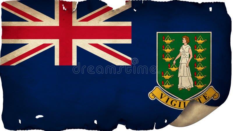 British Virgin Islands Flag On Old Paper stock photo