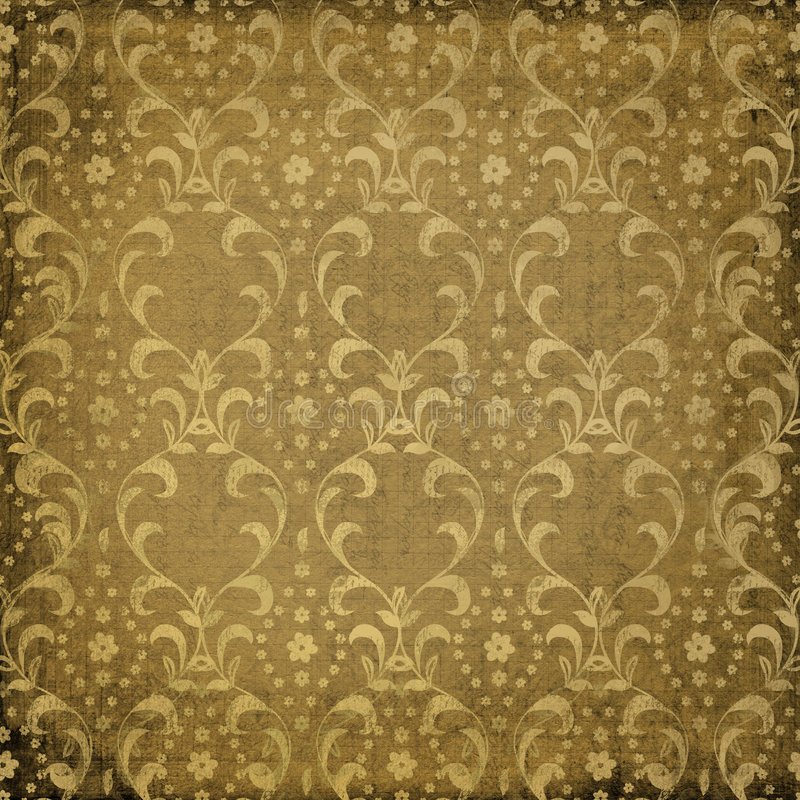 Grunge brown background with ancient ornament royalty free illustration