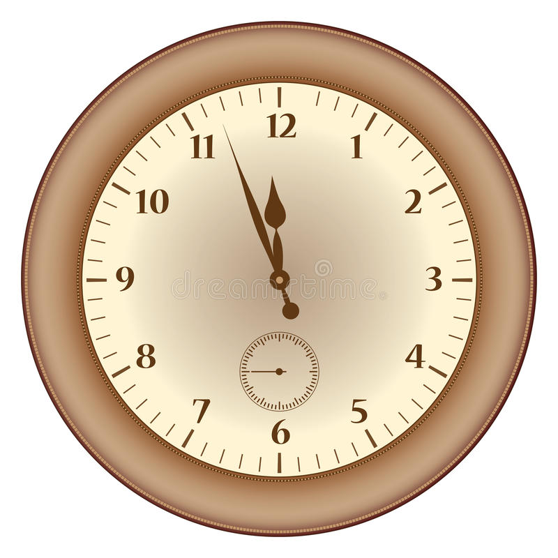 Download Grunge brown  clock stock vector. Image of element, dial - 36445407