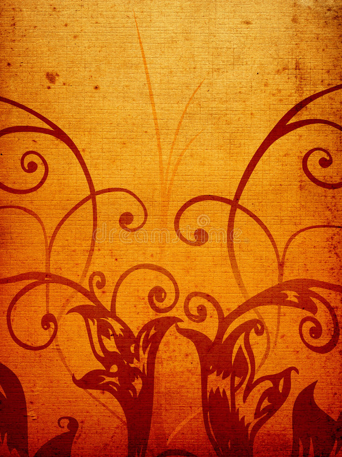 Grunge Brown Deco Royalty Free Stock Images