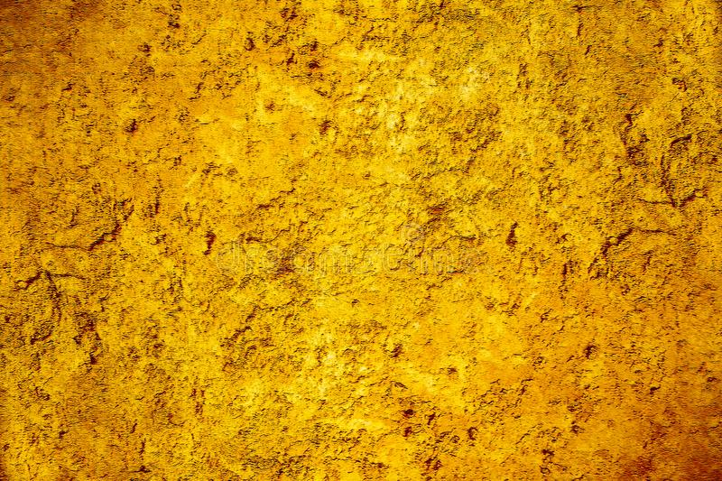 Solid Gold Background Paper With Vintage Grunge Texture