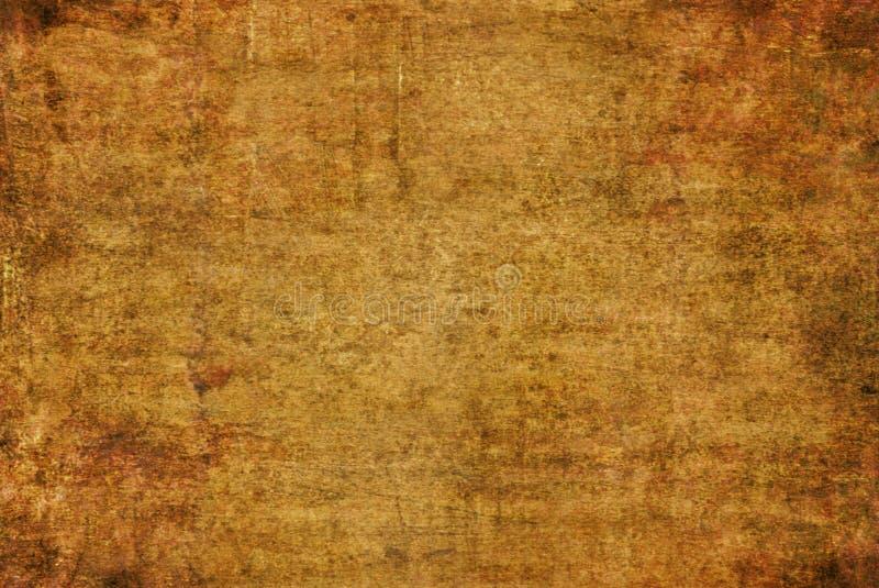 Grunge Brown obrazu tekstury wzoru jesieni tła Ciemna Żółta Pękająca Ośniedziała Zniekształcająca Rozpadowa Stara Abstrakcjonisty zdjęcia royalty free