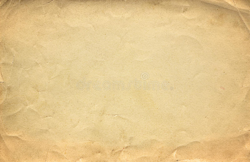 Grunge brown old paper texture or background with vignette stock photos