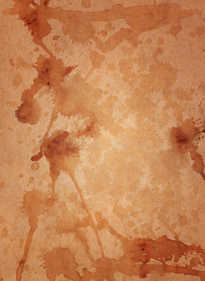 Grunge Brown Paper Isolated Stock Photography