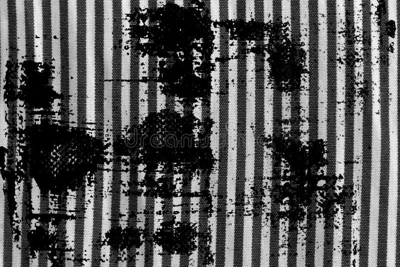 Grunge brudny Czarny i biały zbliżenie obdzierająca tkaniny tekstura obraz royalty free