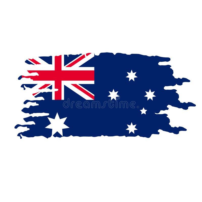 Free Grunge Brush Stroke With Australian National Flag Royalty Free Stock Photography - 168544517