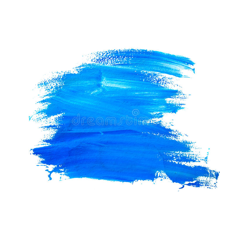 Grunge Brush Strokes of Blue Paint royalty free stock photography