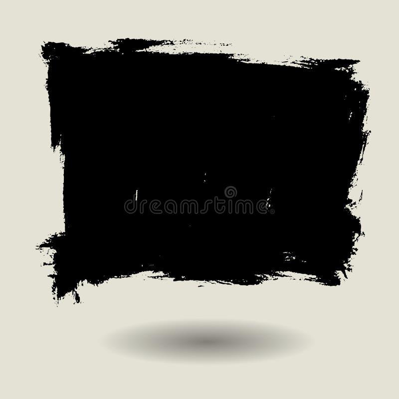 Grunge brush texture background square shape stock illustration
