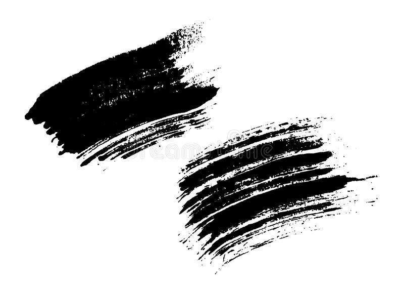 Grunge brushes texture set. Grunge brushes texture white and black set. Sketch abstract to create distressed effect. Overlay distress dirty design. Stylish royalty free illustration