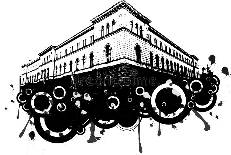 grunge budynku. royalty ilustracja
