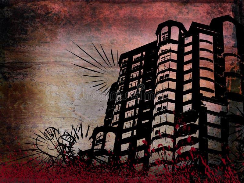 Grunge building vector illustration