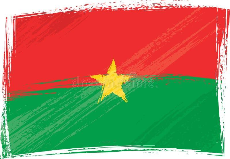 Grunge Burkina Faso Markierungsfahne lizenzfreie abbildung