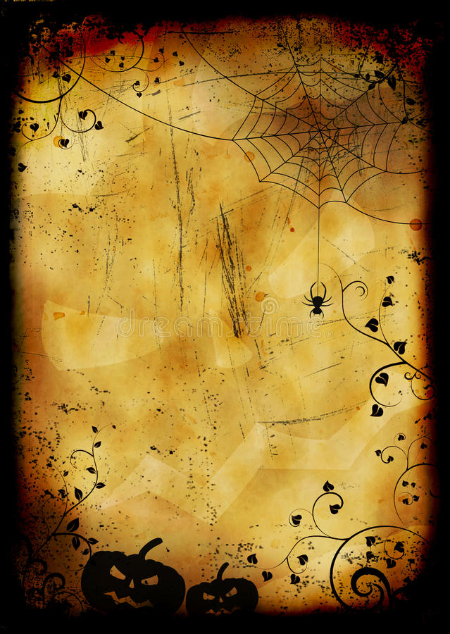 Grunge burned halloween background stock images