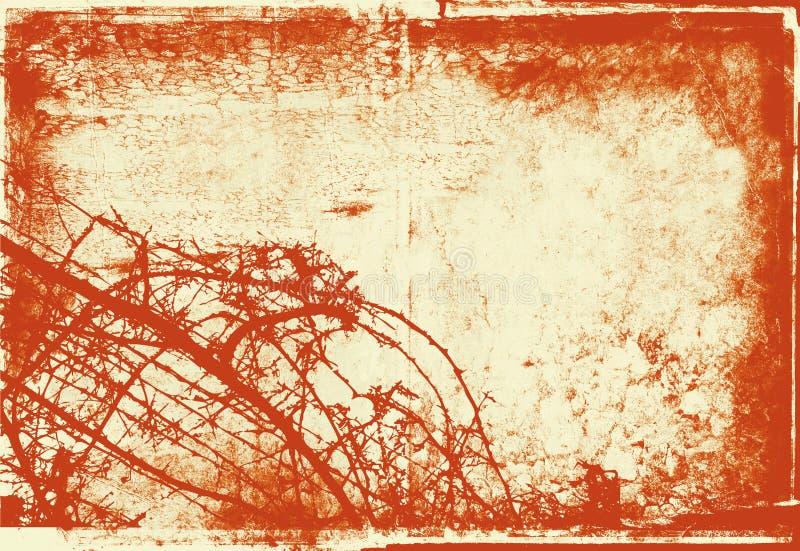 Grunge bushes vector illustration