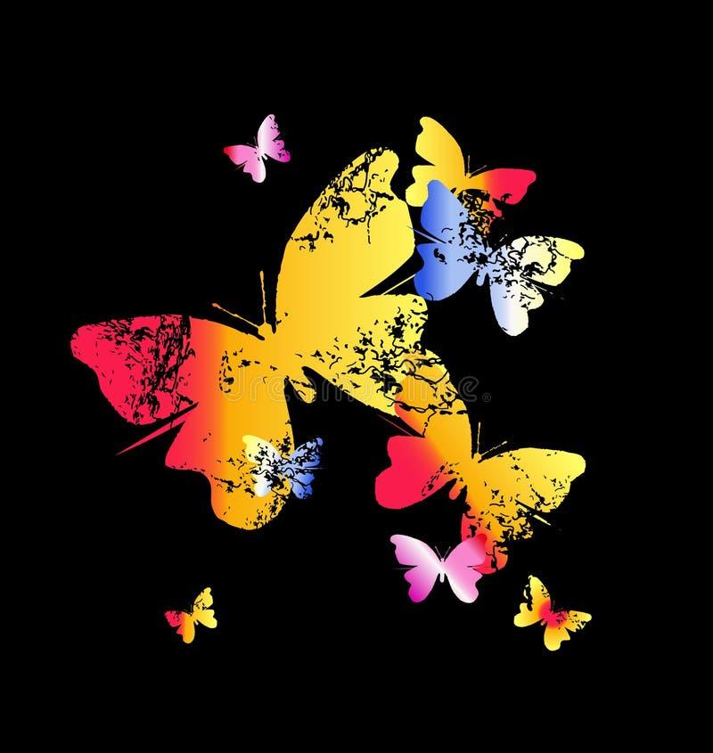 Grunge Butterflies Stock Photo