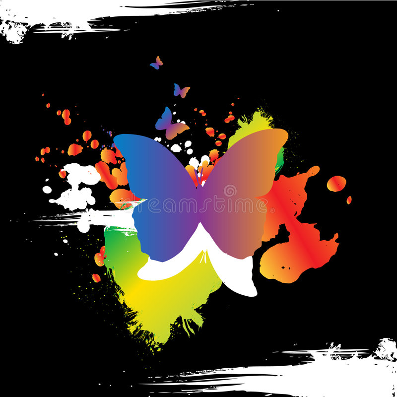 Download Grunge butterly design stock illustration. Image of butterfly - 8305185