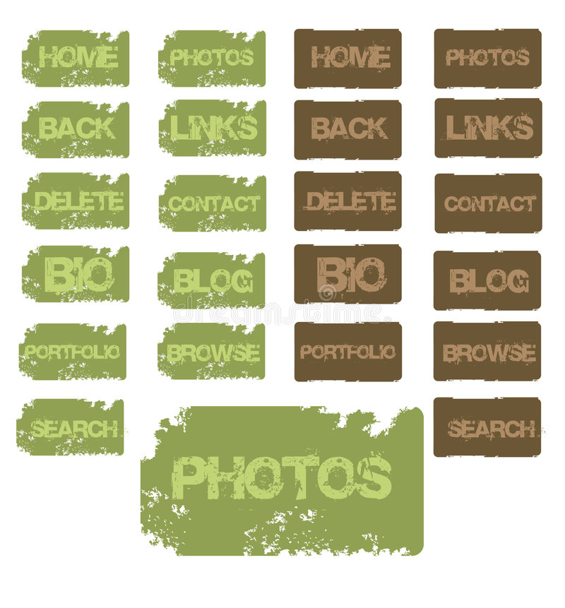 Grunge buttons. Great for websites and myspace links