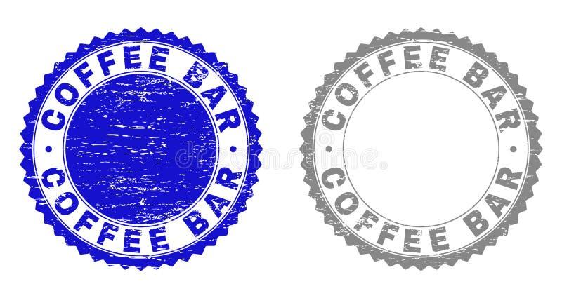 Grunge CAFÉ maserte Wasserzeichen stock abbildung