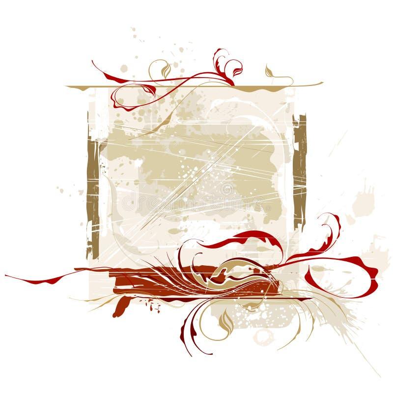 Grunge caligráfico de la vendimia stock de ilustración