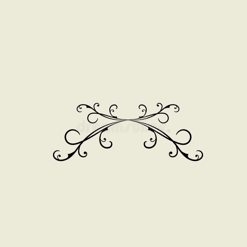 Grunge Calligraphic Elementi di invito della scheda di lusso retroattiva illustrazione vettoriale