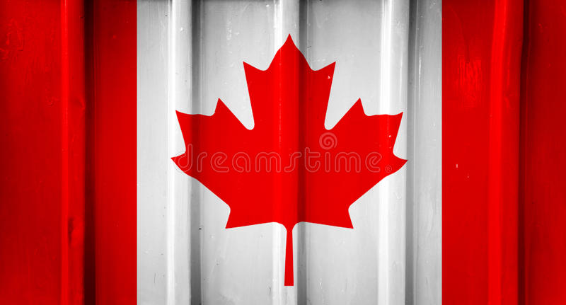 Grunge Canadese vlag stock afbeelding