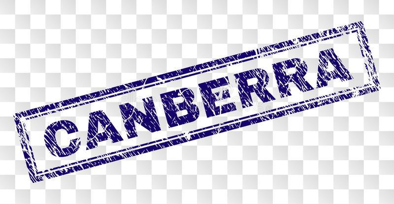 Grunge CANBERRA prostokąta znaczek ilustracja wektor