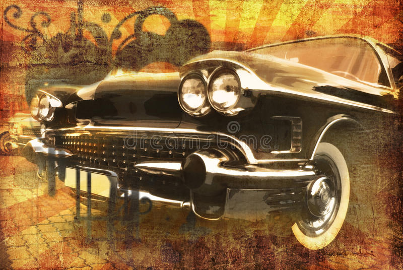 Grunge car royalty free illustration