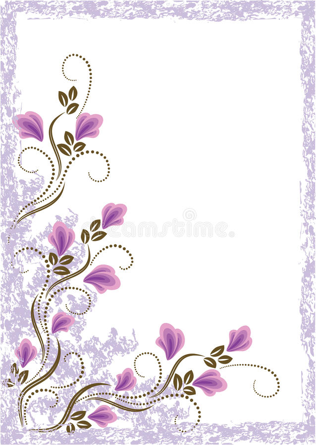 Download Grunge Card With Meadow Flowers Stock Vector - Illustration: 13532102