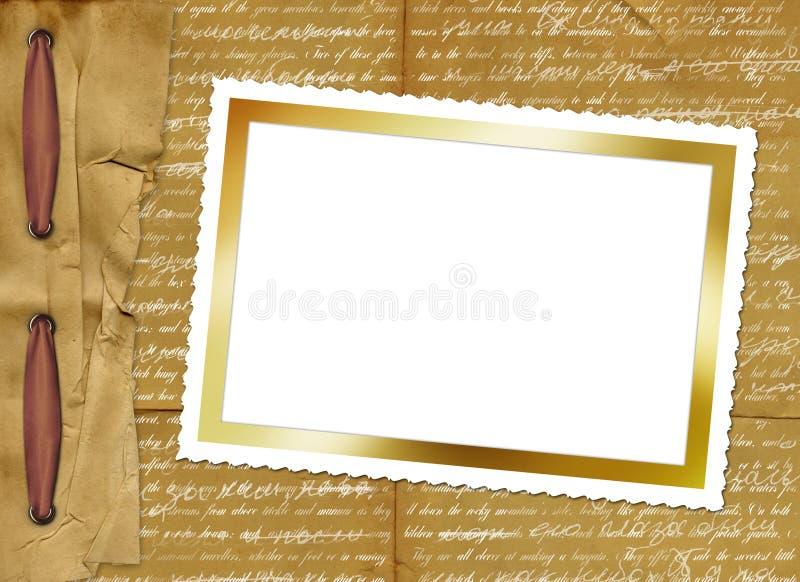 grunge card with paper border for design stock illustration
