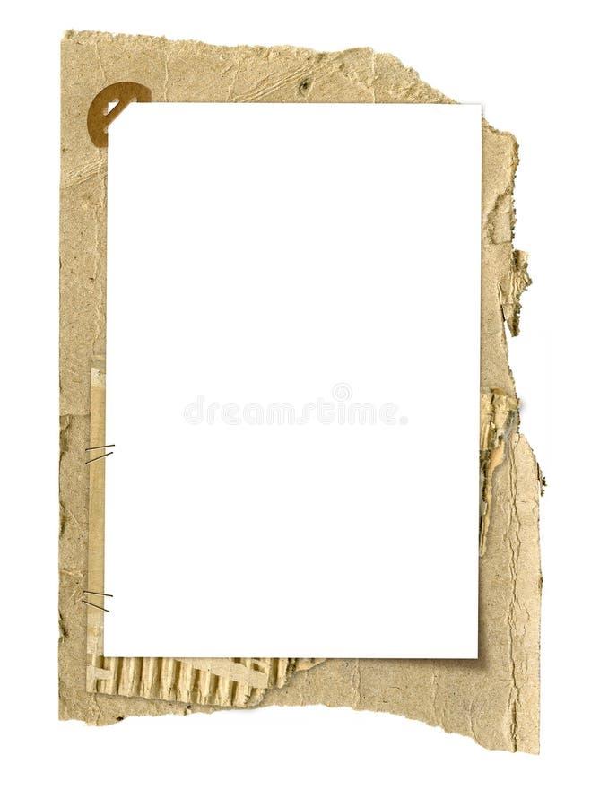 Grunge cardboard frame royalty free stock images
