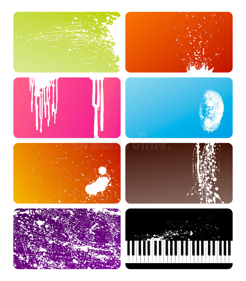 Download Grunge cards stock vector. Image of card, flow, beautiful - 8849441