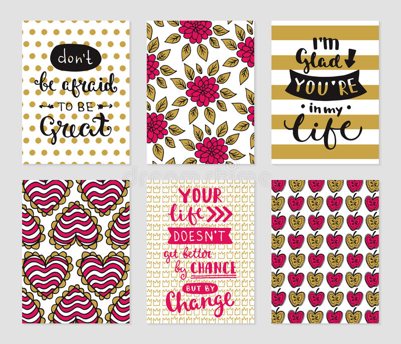 Grunge cards collection royalty free illustration