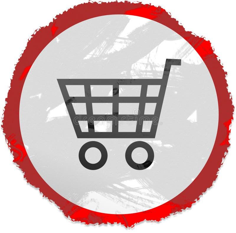 Grunge cart sign stock illustration