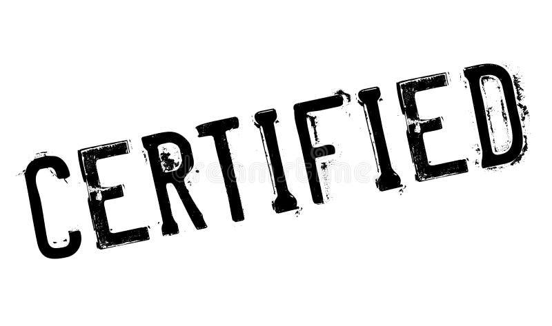 Grunge certificado da borracha do selo ilustração royalty free