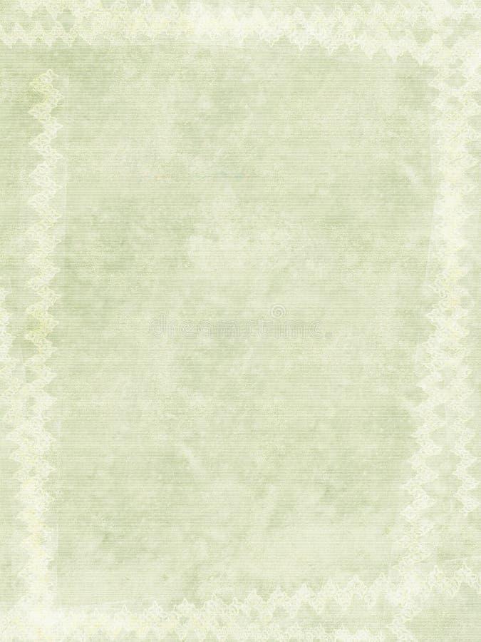 Grunge chalk print border on ribbed handmade paper stock photo