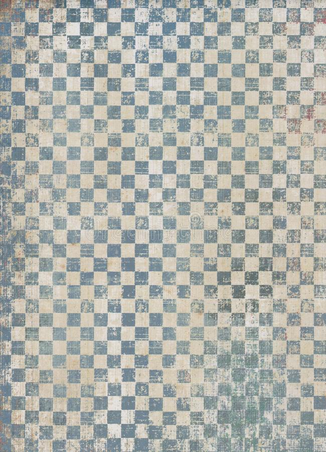 Grunge check pattern. Details of a worn and faded check or checkered pattern stock photography