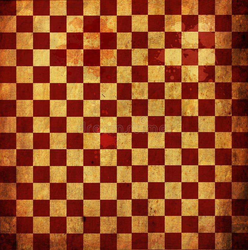 Grunge Checkered vermelho ilustração royalty free