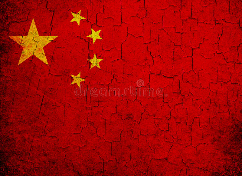 Download Grunge China flag stock illustration. Illustration of national - 27528674