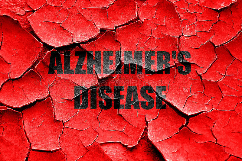 Grunge choroby alzhaimera krakingowy tło fotografia royalty free