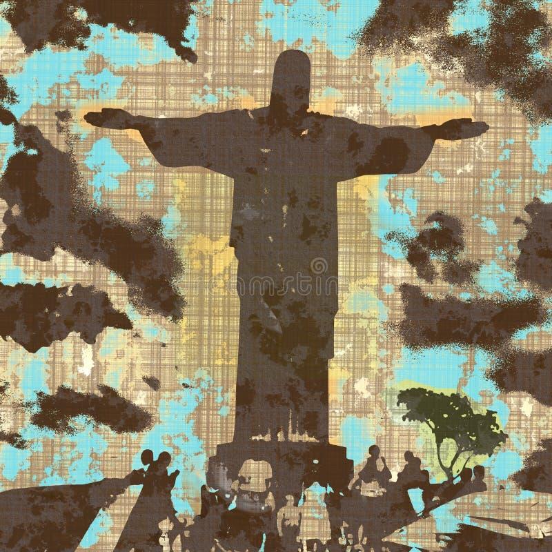 Grunge Christ ilustração do vetor