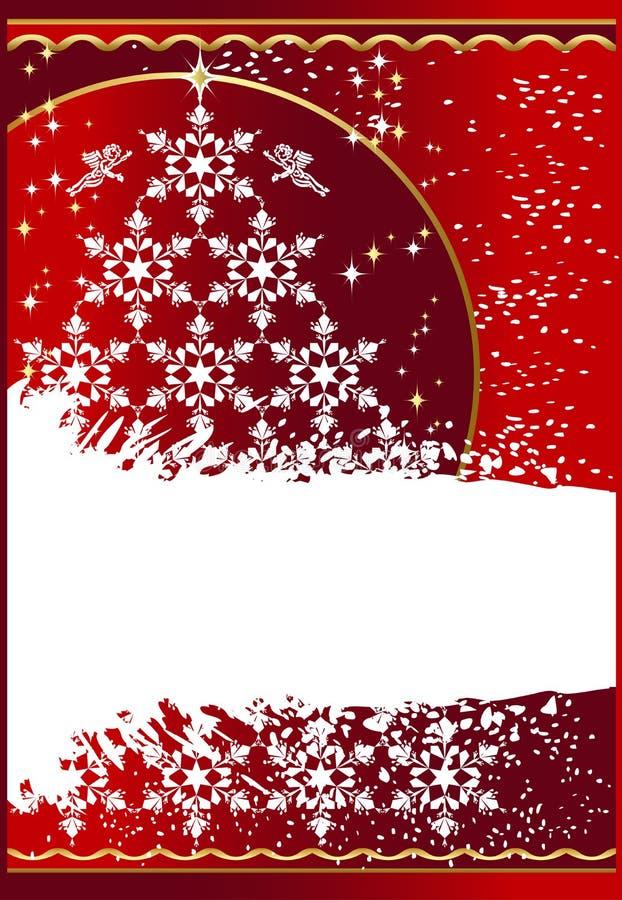Grunge_christmas_background stock illustratie