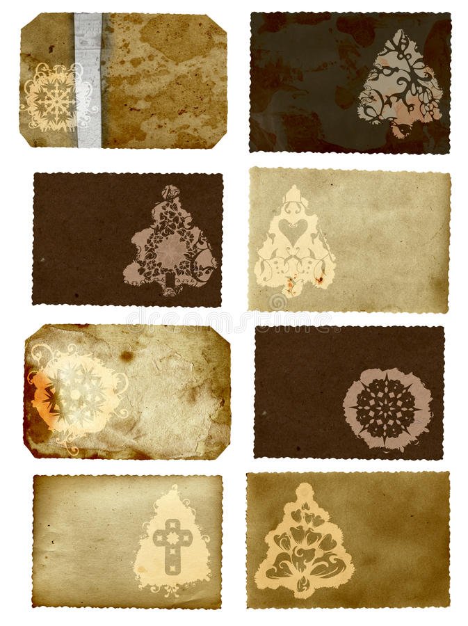 Grunge Christmas Cards Collage Stock Photo
