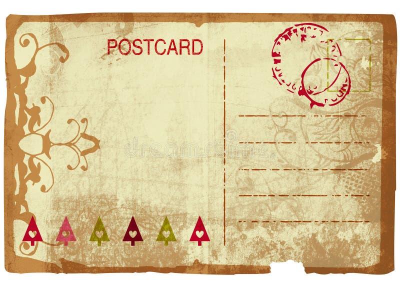 Grunge Christmas post card royalty free illustration