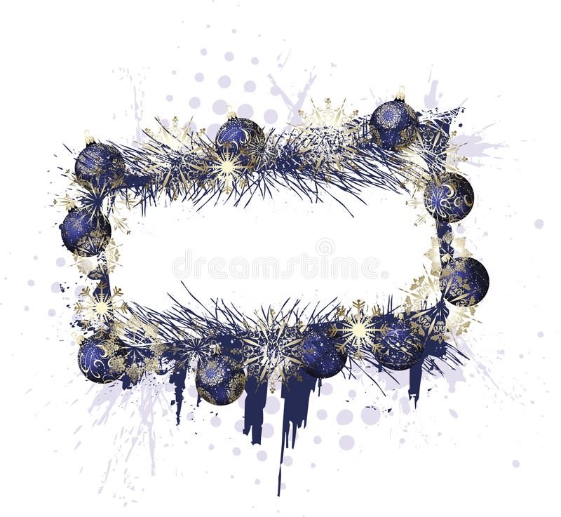 Download Grunge Christmas Purple Frame Stock Vector - Illustration of snow, sparkle: 12879227