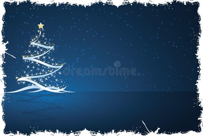 Grunge Christmas tree vector illustration